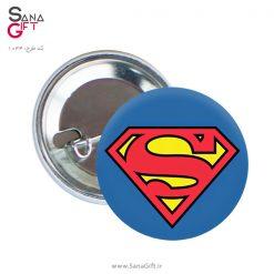 پیکسل طرح لوگو سوپرمن