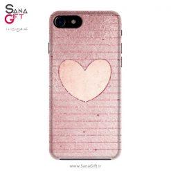 قاب موبایل طرح قلب صورتی
