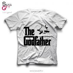 تی شرت سفید طرح لوگو The Godfather