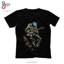 تی شرت طرح فضانورد گیتاریست