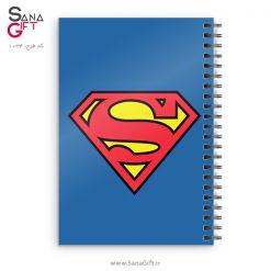 دفتر سیمی طرح لوگو سوپرمن
