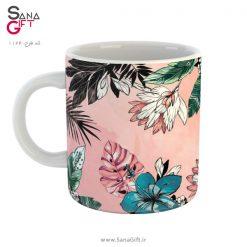 لیوان طرح Pink Plants