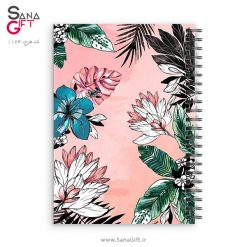 دفتر سیمی طرح Pink Plants