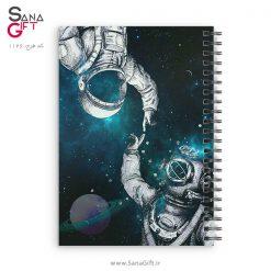 دفتر سیمی طرح فضانورد و غواص