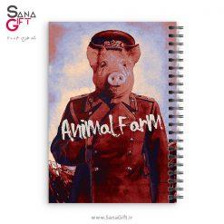 دفتر سیمی طرح قلعه حیوانات - Animal Farm