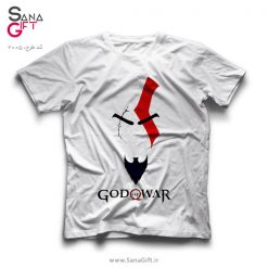 تی شرت سفید طرح خدای جنگ | God of War