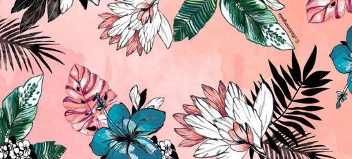 ماگ طرح Pink Plants