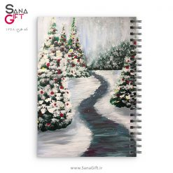 دفتر سیمی طرح نقاشی زمستان کریسمس