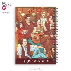 دفتر سیمی طرح نقاشی سریال Friends