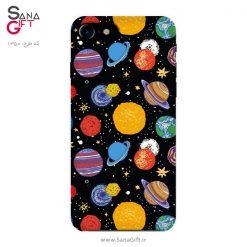قاب موبایل طرح سیاره های رنگی