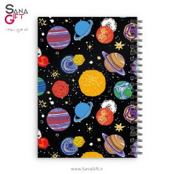 دفتر سیمی طرح سیاره های رنگی