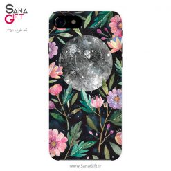قاب موبایل طرح ماه و گل