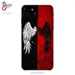 قاب موبایل طرح بال فرشته قرمز و مشکی