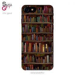 قاب موبایل طرح نقاشی کتابخانه