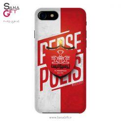 قاب موبایل طرح سفید و قرمز پرسپولیس تهران
