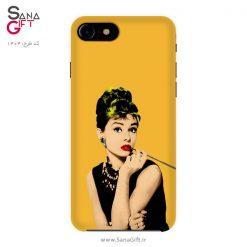 قاب موبایل طرح آدری هپبورن - Audrey Hepburn