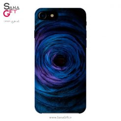 قاب موبایل طرح نقاشی سیاهچاله آبی