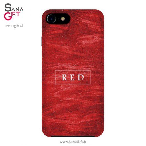 قاب موبایل طرح قرمز - RED