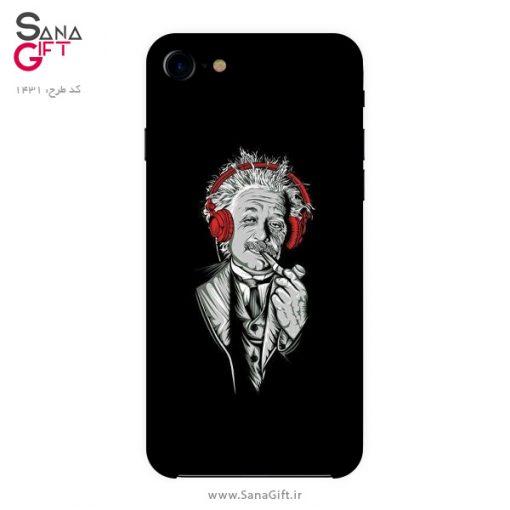 قاب موبایل طرح نقاشی آلبرت اینشتین