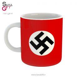 لیوان طرح پرچم نازی