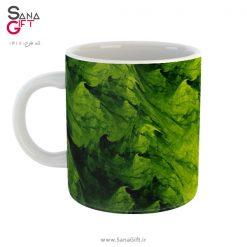 لیوان طرح جلبک های سبز